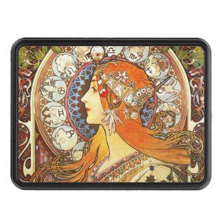 Alphonse Mucha La Plume Zodiac Art Nouveau Vintage Trailer Hitch Cover