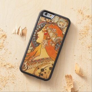 Alphonse Mucha La Plume Zodiac Art Nouveau Vintage Carved® Maple iPhone 6 Bumper