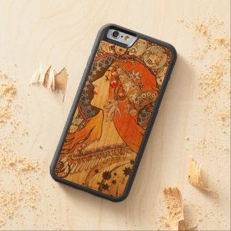 Alphonse Mucha La Plume Zodiac Art Nouveau Vintage Carved® Cherry iPhone 6 Bumper