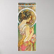Alphonse Mucha. La Primevere/Polyanthus, 1899 Poster