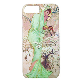 Alphonse Mucha Lady In Green Cape iPhone 7 Case
