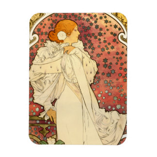 Alphonse Mucha Lady of the Camelias Magnet