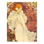 Alphonse Mucha Lady of the Camelias Postcard