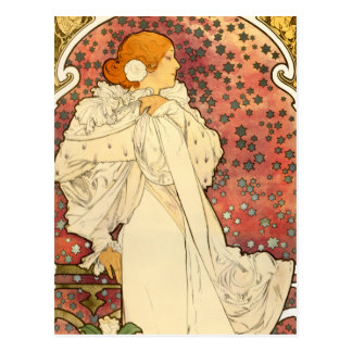 Alphonse Mucha Lady of the Camelias Postcard