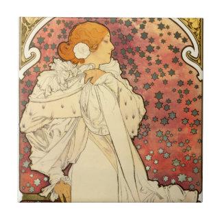 Alphonse Mucha Lady of the Camelias Tile