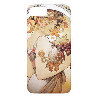 Alphonse Mucha Lady With Fruit iPhone 7 Case