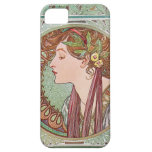 Alphonse Mucha Laurel Art Nouveau iPhone 5 Case