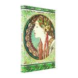 Alphonse Mucha Laurel Canvas Poster Stretched Canvas Prints