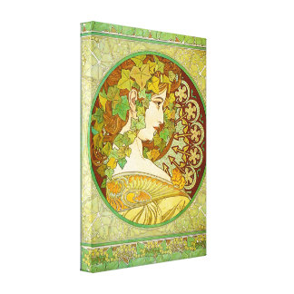 Alphonse Mucha Laurel Canvas Poster