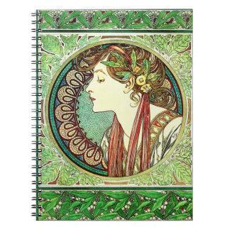 Alphonse Mucha Laurel Notebook