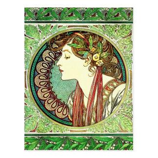 Alphonse Mucha Laurel Postcard