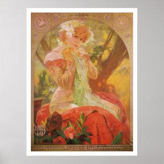 Alphonse Mucha. Lefevre-Utile, Sarah Bernhardt Poster