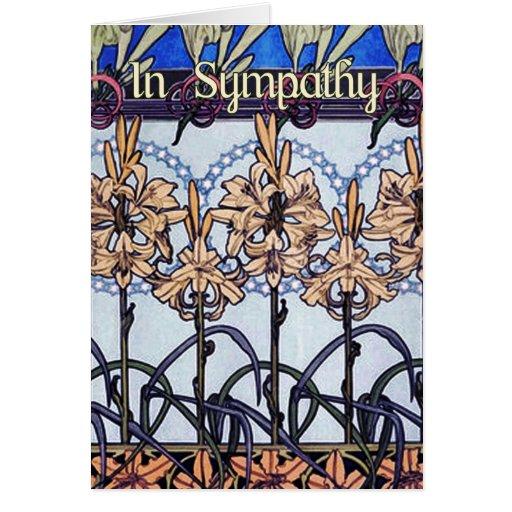 Alphonse Mucha Lily Design Card