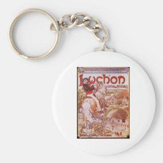 Alphonse Mucha Luchon Keychain