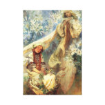 Alphonse Mucha Madonna of the Lilies Stretched Canvas Print