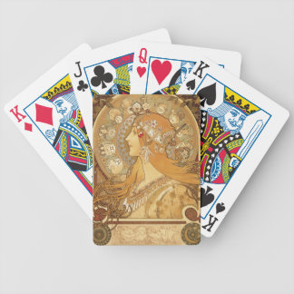 Alphonse Mucha Masterpiece Collection Deck Bicycle Playing Cards