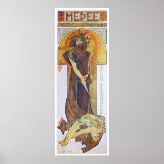 Alphonse Mucha. Medee, 1898 Poster