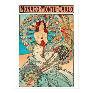 Alphonse Mucha Monaco, Monte-Carlo, 1897 Postcard