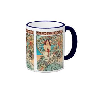 Alphonse Mucha Monaco, Monte-Carlo, 1897 Ringer Mug