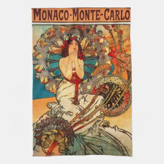 Alphonse Mucha Monte Carlo Kitchen Towel
