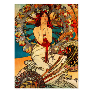 Alphonse Mucha Monte Carlo Postcard