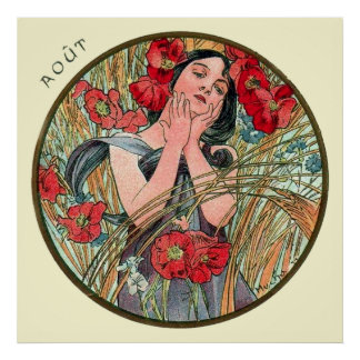Alphonse Mucha Month Of August Poster