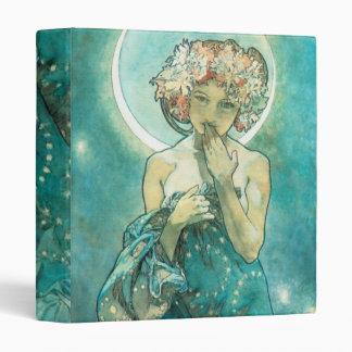Alphonse Mucha Moonlight Clair De Lune Art Nouveau Binder