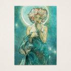 Alphonse Mucha Moonlight Clair De Lune Art Nouveau Business Card