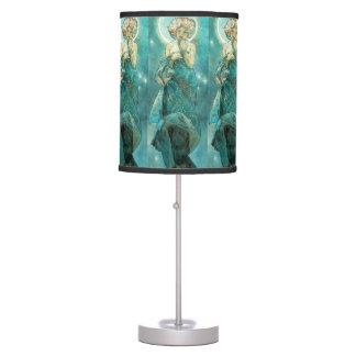 Alphonse Mucha Moonlight Clair De Lune Art Nouveau Desk Lamp