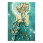 Alphonse Mucha Moonlight Clair De Lune Art Nouveau Large Business Card