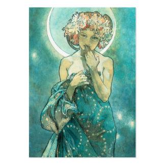 Alphonse Mucha Moonlight Clair De Lune Art Nouveau Large Business Card