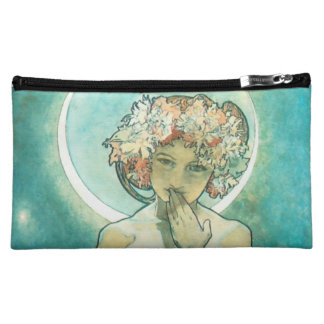 Alphonse Mucha Moonlight Clair De Lune Art Nouveau Makeup Bag