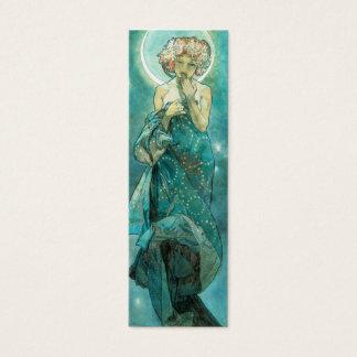 Alphonse Mucha Moonlight Clair De Lune Art Nouveau Mini Business Card
