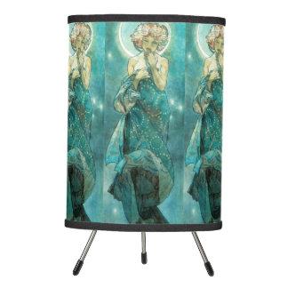 Alphonse Mucha Moonlight Clair De Lune Art Nouveau Tripod Lamp