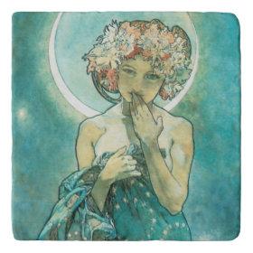 Alphonse Mucha Moonlight Clair De Lune Art Nouveau Trivets