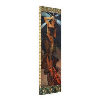 Alphonse Mucha Morning Star Canvas Poster