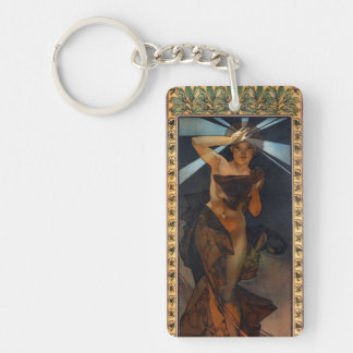 Alphonse Mucha Morning Star Key Chain