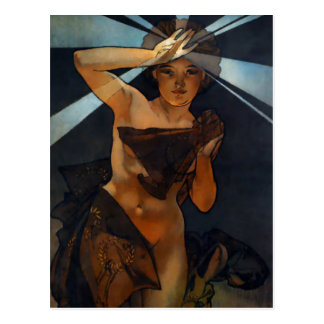 Alphonse Mucha Morning Star Postcard