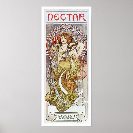Alphonse Mucha. Nectar, 1899 Poster