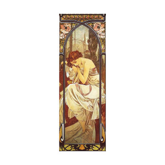Alphonse Mucha, Night's Rest Canvas Print