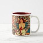 Alphonse Mucha Nouveau Pretty Lady Coffee Mug