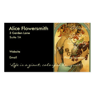 Alphonse Mucha Painting Business Card