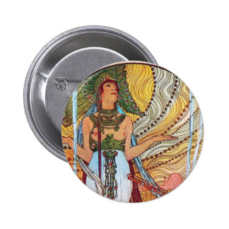 Alphonse Mucha Peacock art Pin