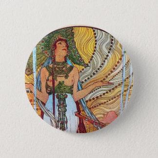 Alphonse Mucha Peacock art Pinback Button