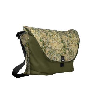Alphonse Mucha Peonies Messenger Bag