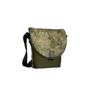Alphonse Mucha Peonies Mini Messenger Bag