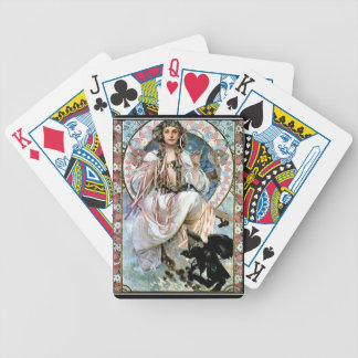 Alphonse Mucha Playing Cards Bicycle Playing Cards