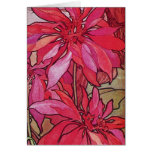 Alphonse Mucha Poinsettias Christmas Note Cards