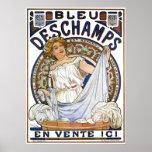 Alphonse Mucha Poster: Art Nouveau- Bleu Deschamps