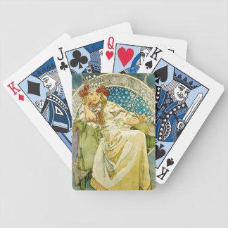 Alphonse Mucha Princess Hyacinth Art Nouveau Bicycle Playing Cards
